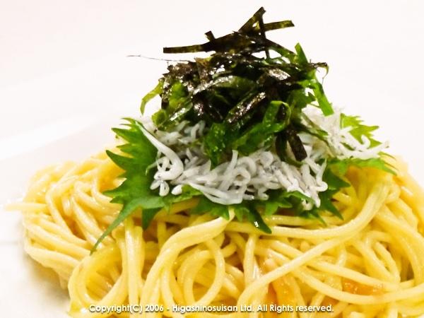 しらすと梅のスパゲッティ